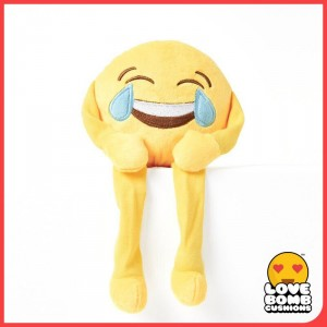 Crying laughing emoji shelf buddy from Design Essentials