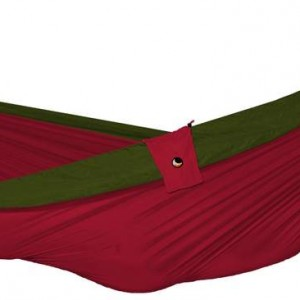 Design Essentials double hammock in burgundy and olive green