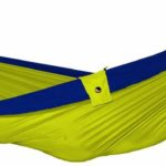 Design Essentials double hammock in neon yellow and purple