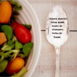 Large vintage style serving spoon with 'friends forever' quote