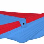 Design Essentials kingsize hammock in blue and red