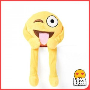 Winking tongue emoji shelf buddy from Design Essentials