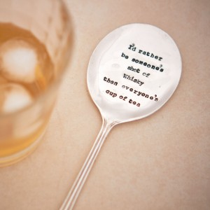 'I'd rather be someone's shot of whiskey' drinks stirrer