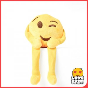Winking emoji shelf buddy from Design Essentials