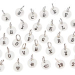 Ellie Jewellery Initial Charms for bracelets and necklaces just in at Design Essentials