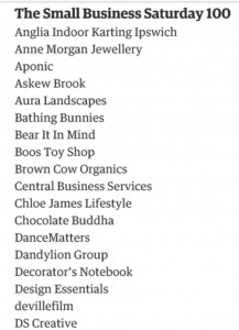 Design Essentials shortlisted in the Small Business Saturday Top 100 article by The Guardian!