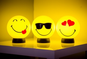 smile lamp smiling design essentials lighting playful trio sticking out tongue cool sunglasses heart eyes