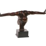Design Essentials bronze statue wingspan sculpture ornament homeare