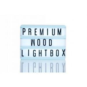 blue wood cime,a light box