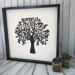 4personalised family tree black tree white diamente words design essentials saffron walden personalisations gifts wedding mothers day bespoke handmade framed wood