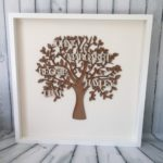 personalised family tree natural design essentials saffron walden personalisations gifts wedding mothers day bespoke handmade framed wood