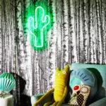 Design Essentials trendy cactus light bespoke neon lights with varying colours and design Saffron Walden, Essex-Lighting, Homeware, Gifts