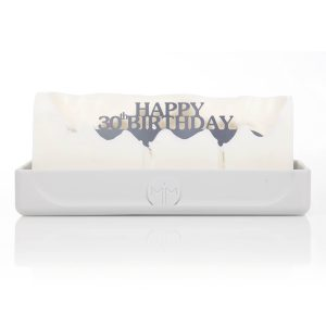 Happy 30th Birthday Melting Messages Candle from design essentials in saffron walden great gift idea