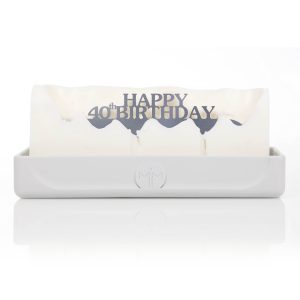 Happy 40th Birthday Melting Messages Candle from design essentials in saffron walden great gift idea