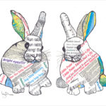 design essentials prints local artist bunnies easter cute artwork frames words news animals