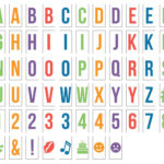 letter pack for light boxes multicoloured emojis alphabet fun kids gift