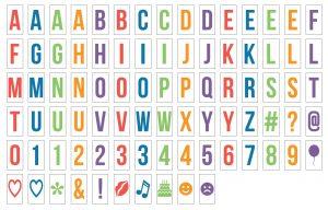letter pack for light boxes multicoloured emojis alphabet fun kids gift