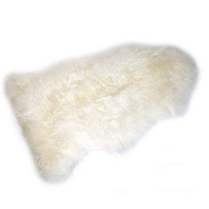 Design Essentials Sheep Skin Rug Light