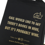Funny tote bag for Wine drinkers and book lovers