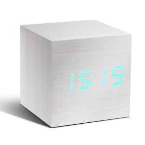 Design Essentials Gingko Message Clock Cube Aluminium Touch Screen Technology