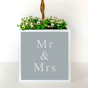 Elegant plant pot for an urban wedding.