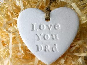 artisan lane gifts, Love You Dad heart, Father's Day decoration, add to make perfect Father's Day gift