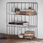 Design Essentials Farringdon Wall Crate charcoal