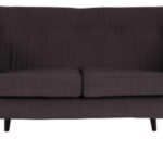 Design Essentials Black Charcoal 2 seater sofa