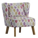 Design Essentials Marle Retro blush chair