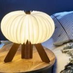R space lamp walnut open warm light design Essentials gingko