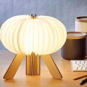 R space lamp maple open warm light design Essentials gingko
