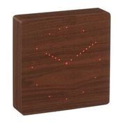 analogue click clock walnut design essentials gingko