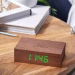 click clock flip walnut design essentials gingko