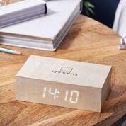 click clock flip white maple design essentials gingko