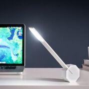 octagon one desk light white design essentials gingko
