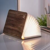 smart book light large walnut part open design essentials gingko