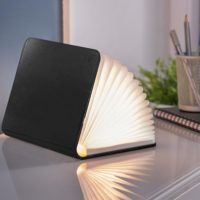 black leather book light mini gingko design essentials