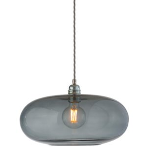 36cm horizon pendant lampshade smokey grey ebb and flow design essentials