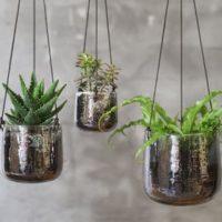 Viri Hanging Planter Clear Nkuku Design Essentials