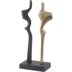 antique brass and black abstract sculpture design essentials