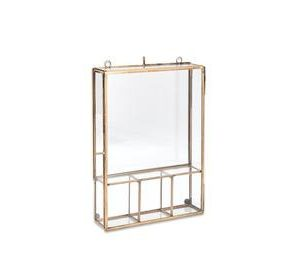 Kiko Photo Box Medium Antique Brass Nkuku Design Essentials
