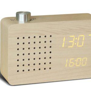 maple radio click clock gingko design essentials saffron walden