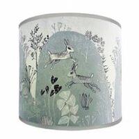 Blue Grey Rabbit Lampshade Lush Designs Design Essentials