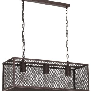 caged hanging light small triple fixture culinary concepts design essentials