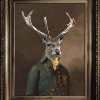 Canvas artprint, comedic, country, animal, portrait, Saffron Walden