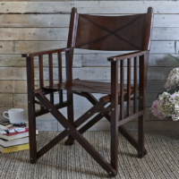 Design Essentials, Saffron Walden, Directors Chair, Life of Riley, Leather, Interior Design, Hand Crafted