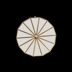 Nkuku Round Mirror Brass Small Design Essentials