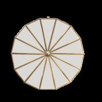 Nkuku Round Mirror Brass Large Design Essentials