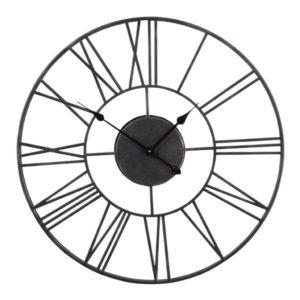 Black Outdoor Skeleton Clock Design Essentials