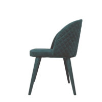 Velvet Chair Emerald Green Side Design Essentials